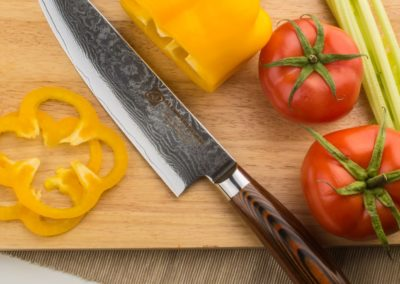"Professional Damascus Chefs Knife, 67-layer Handmade 8"" Damascus Chef Knife, Japanese VG10 Super Steel Core"