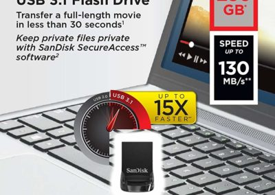 256GB SanDisk Ultra Fit SDCZ430-256G-G46 USB 3.1 Flash Drive