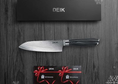 Deik Chef Knife Damascus Professional Kitchen Knife, Japanese VG10 67 Layered Stainless Steel, Ergonomic Handle, with gift box (Upgraded)