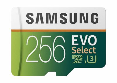 256GB Samsung EVO Select MB-ME256GA/AM microSDXC Flash Memory Card plus Full-sized Adapter