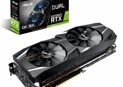 ASUS GeForce RTX 2080 O8G Dual-fan OC Edition GDDR6 HDMI DP 1.4 USB Type-C graphics card (DUAL-RTX2080-O8G )