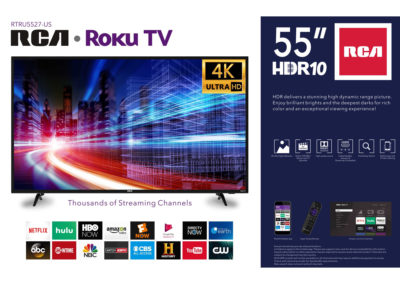 RCA 55 Inch Class 4K Ultra HD HDR Roku Smart LED TV