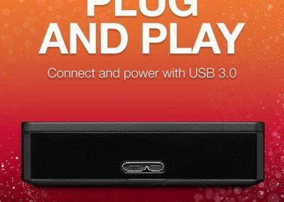 Seagate Backup Plus Portable 5TB USB 3.0 External Hard Drive