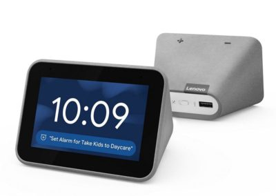 Lenovo ZA4R0002US Smart Clock with the Google Assistant - Gray