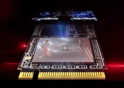 XPG SX8200 PRO PCIE NVME GEN3X4 M.2 2280 512GB SSD (ASX8200PNP-512GT-C) W/ BLACK XPG HEATSINK