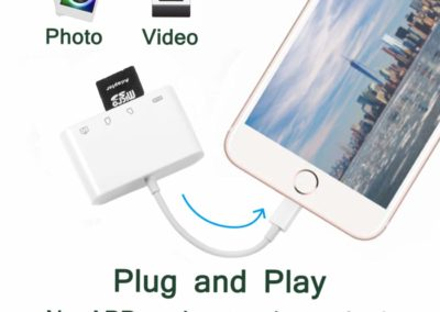 4 in 1 Memory Card Reader Adapter for iPhone and iPad