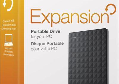 Seagate STEA4000400 Expansion 4TB External USB 3.0 Portable Hard Drive - Black