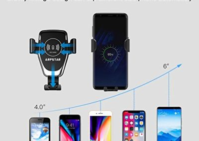 Wireless Car Charger, ARPSTAR Quick Charge Wireless Car Charger with Car Mount Phone Holder Fast Charging for iPhone Xs XR X 8 Plus and Samsung Galaxy S8/9 Plus Note 8/9 or Any Other Qi Smartphone