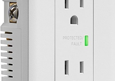 Insignia NS-HW120S18 2-Outlet In-Wall Surge Protector in White