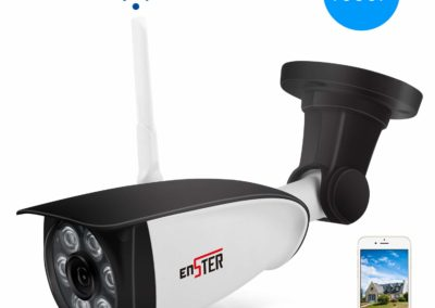 ENSTER Outdoor Security Camera - 1080P Home Outside Surveillance Camera - Motion Detection, Waterproof, Night Vision, FTP, Support Max 128GB Micro SD Card -Windows, iOS, Android Compatibility