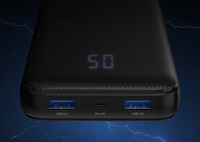 Sabrent 20000 mAh USB C 18W PD Power Bank Portable Charger with Quick Charge 3.0 USB (PB-Y20B)