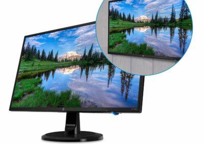 "HP 24yh 3UA73AA#ABA 23.8"" LED Monitor, Black"