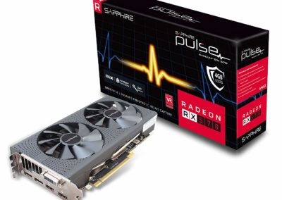 Sapphire 11266-04-20G Radeon Pulse RX 570 4GB GDDR5 Dual HDMI/ DVI-D/ Dual DP OC with Backplate (UEFI) PCI-E Graphics Card