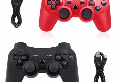 PS3 Controller Wireless 2 Pack Double Shock Gamepad for Playstation 3
