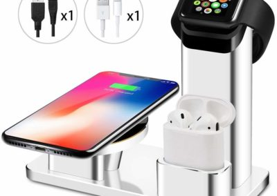 Wuloo 10W Wireless Aluminum Charger Station