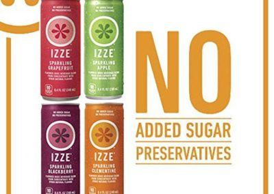 IZZE Sparkling Juice, 4 Flavor Variety Pack, Pack of 24, 8.4 oz Cans