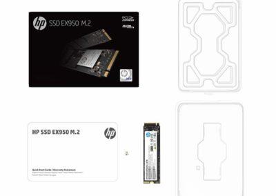HP EX950 M.2 2TB PCIe 3.1 x4 NVMe 3D TLC NAND Internal Solid State Drive (SSD) 5MS24AA#ABC HPEX9502TB 193424202324