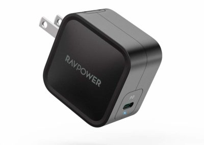 USB C Charger, RAVPower 61W Wall Charger PD 3.0 [GaN Tech] Type C Fast Charging Power Delivery Foldable Adapter, Compatible with iPhone 11/Pro/Max, MacBook Pro/Air, Ipad Pro 2018 and More (Black)