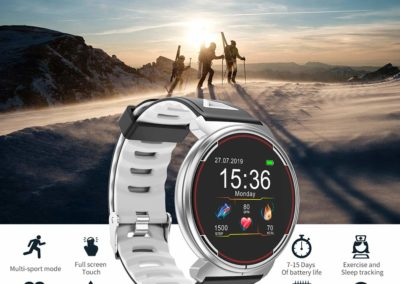 Smart Watch for iOS Android Phones, AIVEILE 2019 Version Activity Fitness Tracker Bluetooth Bracelet Waterproof Smartwatch with Blood Pressure Monitor Compatible Samsung iPhone for Men Women Kids