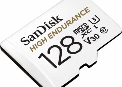 SanDisk 128GB High Endurance Video microSDXC Card with Adapter for Dash cam and Home Monitoring Systems - C10, U3, V30, 4K UHD, Micro SD Card - SDSQQNR-128G-GN6IA