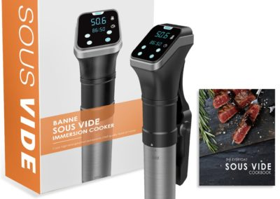 Sous Vide Cooker,Banne 800W 110V Precise Digital Timer Manual Controlled IPX7 Waterproof Immersion Circulator Cooker with Cookbook