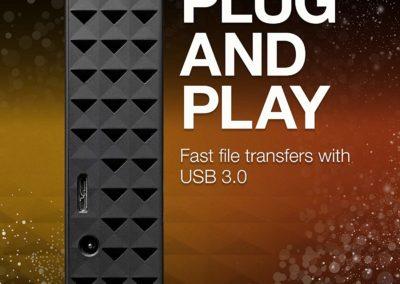8TB Seagate Expansion Desktop STEB8000100 External USB 3.0 Hard Drive