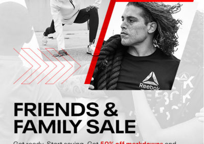 Reebok Friends & Family Sale. Get 50% off Markdowns and 30% off the rest Sitewide, use code: FAM