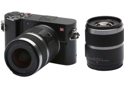 YI M1 YI-95013 4K Video 20 MP Mirrorless Digital Camera w/ 12-40mm & 42.5mm Lenses, Black