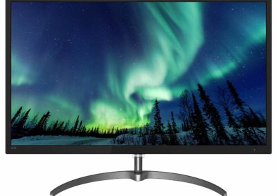 "Philips 326E8FJSB 32"" Monitor, 2K QHD VA, 1 Billion+ Colors, Ultranarrow Borders, Freesync, Flicker-Free, Lowblue, 4Yr Advance Replacement Warranty 326E8FJSB/27"