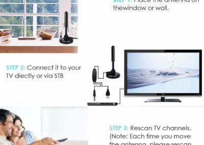 Full HD Amplified Smart TV Digital Indoor Antenna TV