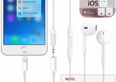Headphone AUX Jack 3.5mm Adapter for iPhone7/7 Plus/8/8Plus/X/XS/XS MAX/XR/11 Headphone Dongle Accessories for iPhone Cable Earphone Convertor Audio Headset Stereo Line Car Adapter