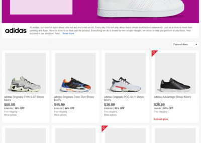 Get an extra 20% off Adidas Shoes and Fashion from the Adidas Store on eBay