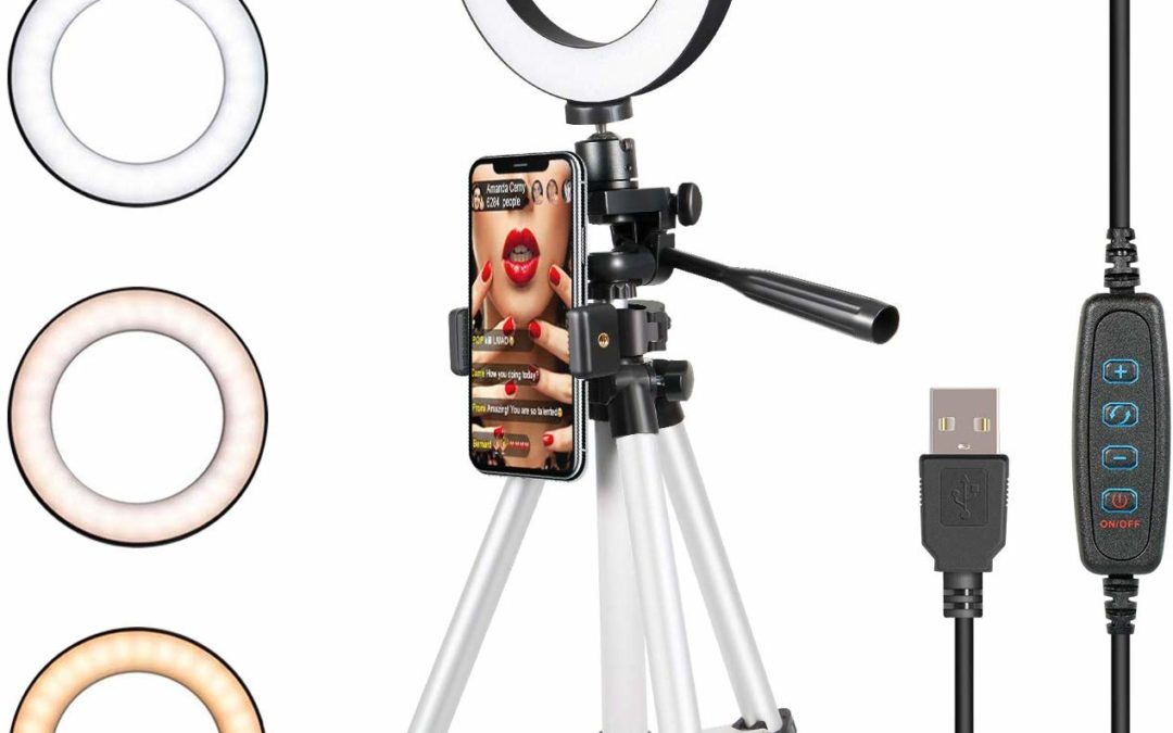 Selfie Ring Light with Tripod Stand for Live Stream-LED Ring Light for $26.39 Shipped from Amazon Prime