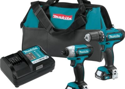 Makita CT226 12-Volt MAX CXT Lithium-Ion Cordless 3/8 in. Drill and Impact Driver Combo Kit with (2) 1.5Ah Batteries Charger and Bag