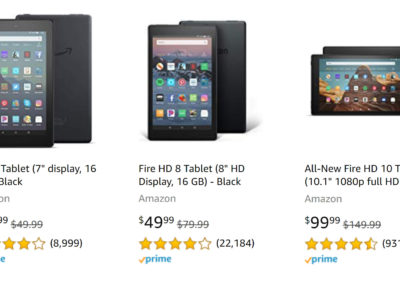 Amazon Fire Tablet Family