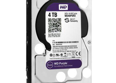 4TB Western Digital Purple WD40PURX Surveillance Hard Drive MPN: WD40PURX SKU: CCWD40PURX UPC: 718037823317