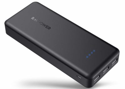 Portable Charger RAVPower 22000mAh Power Bank External Battery Pack with 5.8A Output 3-Port (iSmart 2.0 USB Ports,) for iPhone 11/Pro/Max/ 8/ X/XS, Samsung S10(Black)