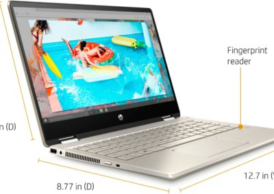 "HP - Pavilion x360 2-in-1 14"" Touch-Screen Laptop - Intel Core i5 - 8GB Memory - 256GB SSD + 16GB Optane - HP anodized finish in warm and luminous gold Model: 14M-DH1003DX SKU: 6364560"