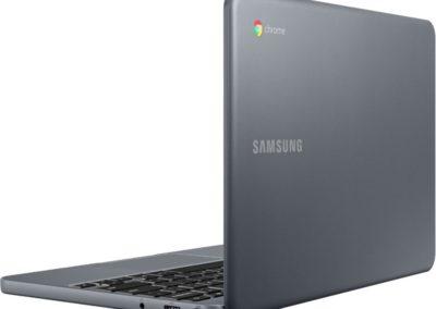 "Samsung - 11.6"" Chromebook - Intel Atom x5 - 2GB Memory - 16GB eMMC Flash Memory - Night Charcoal Model: XE501C13-S01US SKU: 6371515"