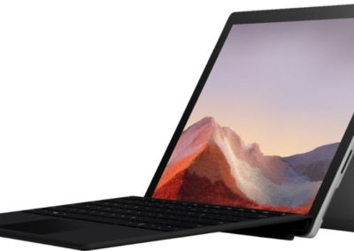 "Microsoft - Surface Pro 7 - 12.3"" Touch Screen - Intel Core i3 - 4GB Memory - 128GB SSD with Black Type Cover (Latest Model) - Platinum Model: QWT-00001 SKU: 6374985"
