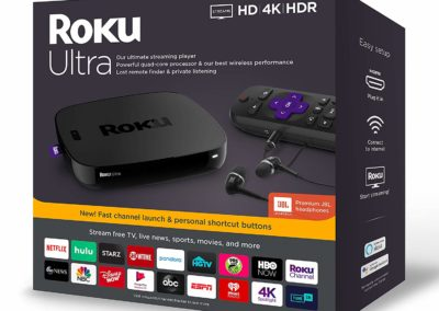 Roku Ultra | Streaming Media Player 4K/HD/HDR 2019 with Premium JBL Headphones