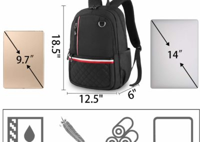 "Lightweight Water Resistant 14"" Laptop Backpack"