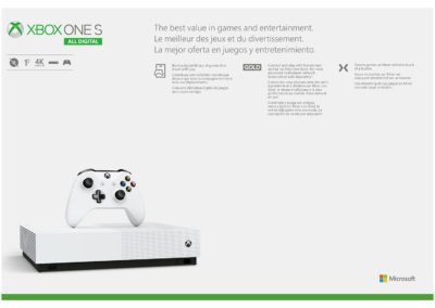 Microsoft Xbox One S All-Digital Edition 4K HDR Gaming Console with 1TB Storage MPN: NJP00050 UPC: 0889842528992
