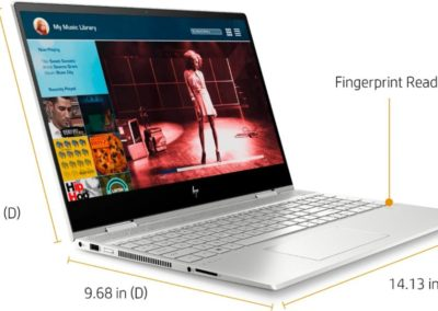 "Touchscreen IPS 15.6"" 1080p HP ENVY x360 15t Touch 8DX23AV_1 2-in-1 Laptop with 10th Gen Intel Core i7-10510U, 8GB DDR4 Memory, 256GB SSD + 16GB Intel Optane"