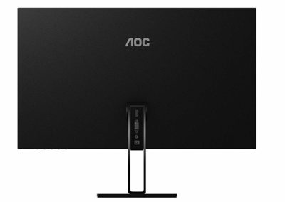 "AOC 27V2H 27"" Full HD 1920x1080 Ultra-Slim Monitor, Frameless IPS Panel, 5ms, 75Hz, Freesync, Flickerfree, HDMI/VGA"