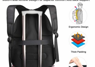 MATEIN Travel Backpack for International Travel, 17 Inch Laptop Backpack with USB Port and Luggage Strap for Women and Men, Extra Large TSA Friendly Water Resistant Business Computer Bag for Airplane