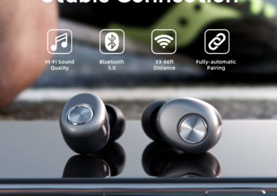 Wireless-Earbuds, BALFER True Wireless-Bluetooth-Earbuds TWS Headphones in-Ear Stereo Bluetooth V5.0 Earphone Built-in High Definition Mic Rechargable