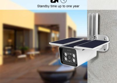 FUVISION Solar Powered Wireless Outdoor 1080P Home Security Camera,2.4G WiFi Camera,IP66 Waterproof,2-Way Audio,Night Vision,Motion Detection,Smart Outdoor Surveillance Cam-iOS/Android App