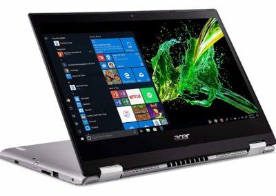 "Acer Spin 3 SP314-53N-53SH 14"" Notebook, Intel i5, 8GB Memory, 256GB SSD, Windows 10, Silver (NX.HDBAA.002)"