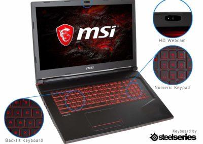 "MSI GL Series GL73 9RCX-030 17.3"" 60 Hz Intel Core i5 9th Gen 9300H (2.40 GHz) NVIDIA GeForce GTX 1050 Ti 8 GB Memory 256 GB NVMe SSD Windows 10 Home 64-bit Gaming Laptop"